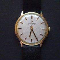 Junghans Gelbgold Handaufzug 35mm gebraucht