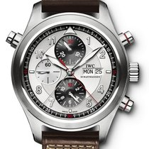 IWC Pilot Double Chronograph Steel 44mm White Arabic numerals United States of America, New York, New York