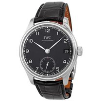 IWC Portuguese Hand-Wound Steel 43mm Black Arabic numerals United States of America, New York, New York