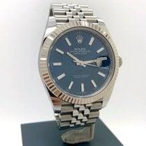 Rolex Datejust II gebraucht 41mm Blau Datum Stahl