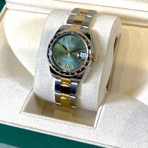 Rolex Lady-Datejust Gold/Steel 31mm Green Roman numerals United States of America, New York, New York