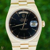 Rolex Day-Date Oysterquartz gebraucht 42mm Schwarz Datum Wochentagsanzeige Gelbgold