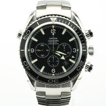 Omega Seamaster Planet Ocean Chronograph occasion 45.5mm Noir Chronographe Date Acier