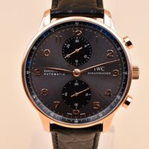 IWC Portuguese Chronograph Rose gold 40.9mm Grey Arabic numerals United States of America, Texas, Houston