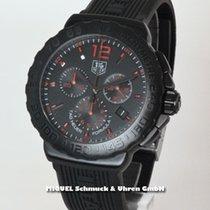 TAG Heuer Formula 1 Quarz gebraucht 42mm Schwarz Chronograph Datum Kautschuk