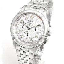 Zenith El Primero Sport occasion 40mm Argent Chronographe Date Acier