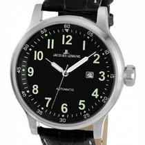 Jacques Lemans Sport Porto Steel 49mm Black