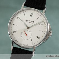 NOMOS Ahoi pre-owned 40mm Silver Textile