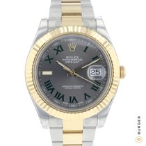 Rolex Datejust II Gold/Steel 41mm Grey Roman numerals