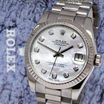 Rolex Or blanc Remontage automatique Nacre occasion Lady-Datejust