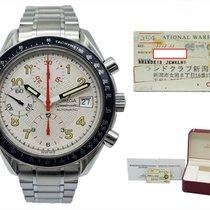 Omega Speedmaster Date Stål 38mmmm Sølv Arabisk