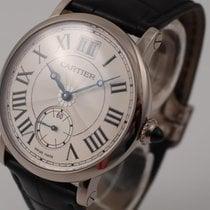 Cartier Weißgold Handaufzug Silber 30mm neu Rotonde de Cartier
