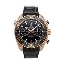 Omega Seamaster Planet Ocean Chronograph Or rose 45.5mm Noir
