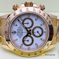 Rolex Daytona Or jaune 40mm Blanc Sans chiffres