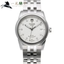 Tudor Glamour Date pre-owned 39mm Silver Steel