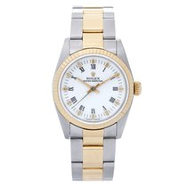 Rolex Oyster Perpetual 31 Or/Acier 30mm Blanc Romains