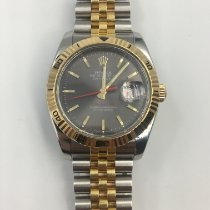 Rolex Datejust Turn-O-Graph Aur/Otel 36mm Gri Fara cifre