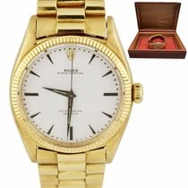 Rolex Yellow gold Automatic White 36mm pre-owned Oyster Perpetual 36