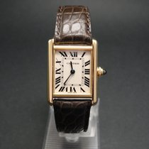 Cartier Tank Louis Cartier Or jaune 29,5mm Blanc Romain