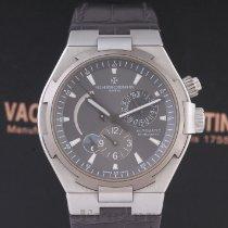 Vacheron Constantin Overseas Dual Time gebraucht 42.5mm Schwarz Datum GMT/Zweite Zeitzone Krokodilleder