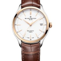 Baume & Mercier Clifton Gold/Steel 40mm White No numerals
