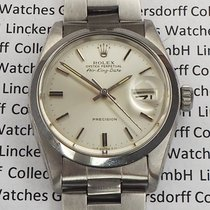 Rolex Steel Automatic Silver No numerals 34mm pre-owned Air King Date