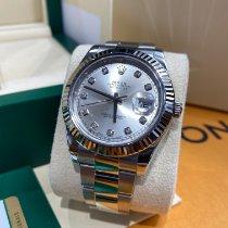 Rolex Datejust II Acero 41mm Plata Sin cifras