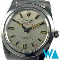 Rolex Milgauss Stahl 38mm Silber Keine Ziffern