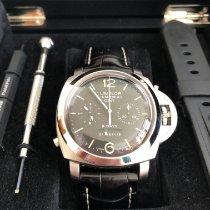 Panerai Luminor 1950 8 Days Chrono Monopulsante GMT Stahl 44mm Schwarz Arabisch Deutschland, Oberbayern