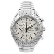 Omega Speedmaster Date pre-owned 40mm Silver Chronograph Date Steel