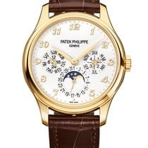 Patek Philippe Perpetual Calendar Ouro amarelo 39mm Branco Árabes