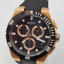 Mido Steel 44mm Quartz M023.417.37.051.00 Mido Ocean Star Captain Chronograph new