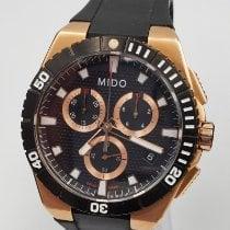 Mido Aço 44mm Quartzo M023.417.37.051.00 Mido Ocean Star Captain Chronograph novo
