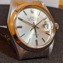 Rolex Air King Date Acero 35mm Plata Sin cifras