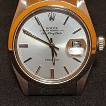 Rolex Air King Date Steel 35mm Silver No numerals