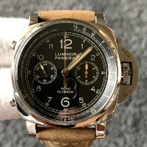 Panerai Steel Automatic Black Arabic numerals 44mm pre-owned Luminor 1950 3 Days Chrono Flyback