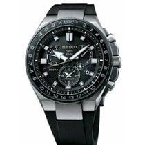 Seiko Astron GPS Solar Chronograph Titanio 46.7mm Negro Sin cifras