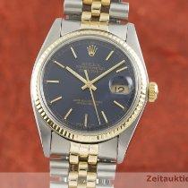 Rolex Datejust Guld/Stål 36mm Blå