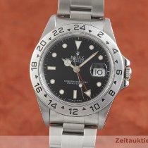 Rolex Explorer II occasion 40mm Noir Date GMT Acier
