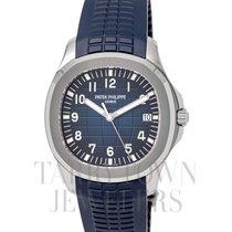 Patek Philippe White gold Automatic Blue Arabic numerals 42mm new Aquanaut