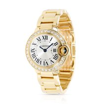 Cartier Ballon Bleu 28mm Yellow gold 28mm Silver Roman numerals United States of America, New York, New York