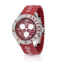Dior Steel Quartz Red Arabic numerals 37mm pre-owned Christal