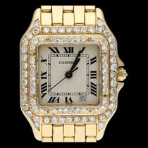 Cartier Panthère Geelgoud 29mm Wit Romeins
