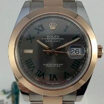 Rolex Datejust Goud/Staal 41mm Grijs Geen cijfers Nederland, Kerkrade