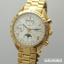 Omega Or jaune Remontage automatique Blanc 37mm occasion Speedmaster