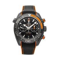 Omega Céramique Remontage automatique Noir Sans chiffres 45.5mm occasion Seamaster Planet Ocean Chronograph