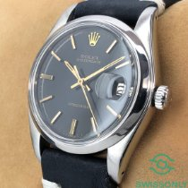Rolex Oyster Precision Steel 34mm Black No numerals
