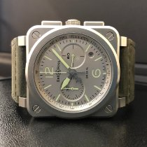 Bell & Ross Steel Automatic Grey Arabic numerals 42mm new BR 03-94 Chronographe