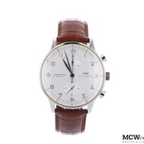 IWC Portuguese Chronograph Or blanc 41mm Blanc Arabes