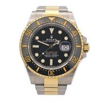 Rolex Yellow gold Automatic Black No numerals 43mm new Sea-Dweller